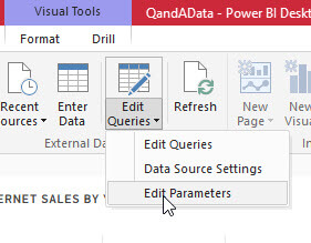Report Edit Parameters in Power BI