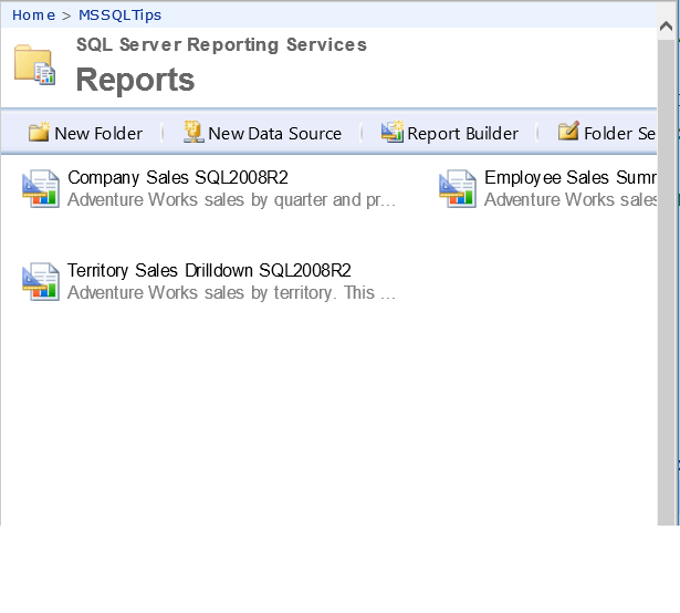 Deployed Data sources, Datasets and Reports in SQL Server Reporting Services
