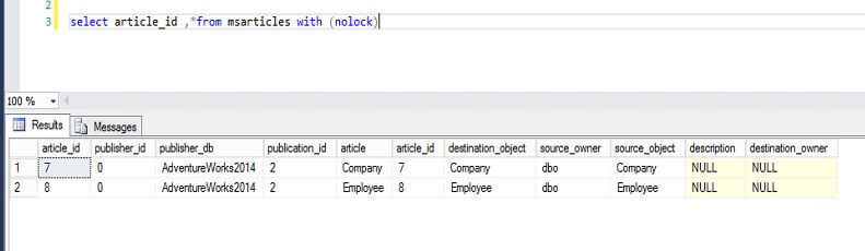 SQL Server Replication Articles