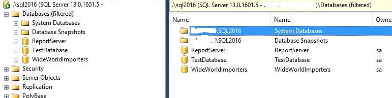 Databases owned by sa in SQL Server Management Studio