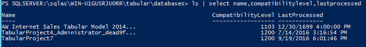 showing compatibility level in PowerShell