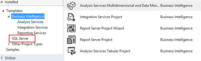 SQL Server 2016 Reporting Services SSDT Projects