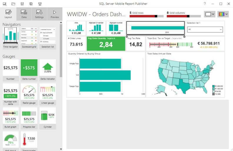 New SQL Server 2016 Reporting Services mobile reports