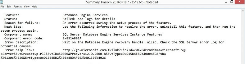 SQL Server Error Log File
