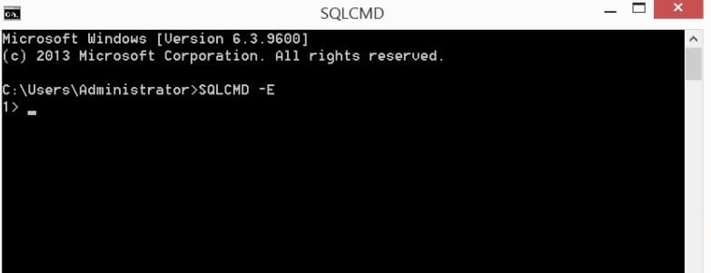 connect to instance with SQLCMD