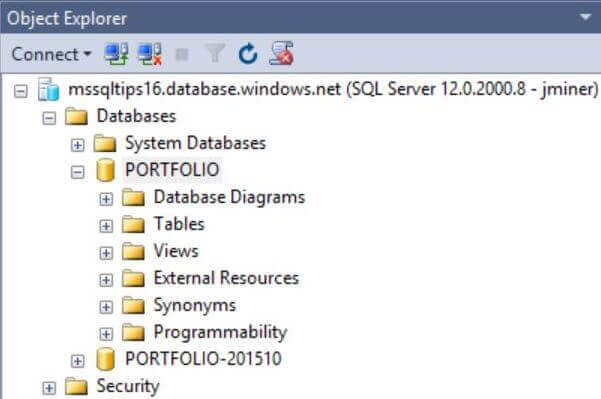 In SSMS see both the original database and the new copy