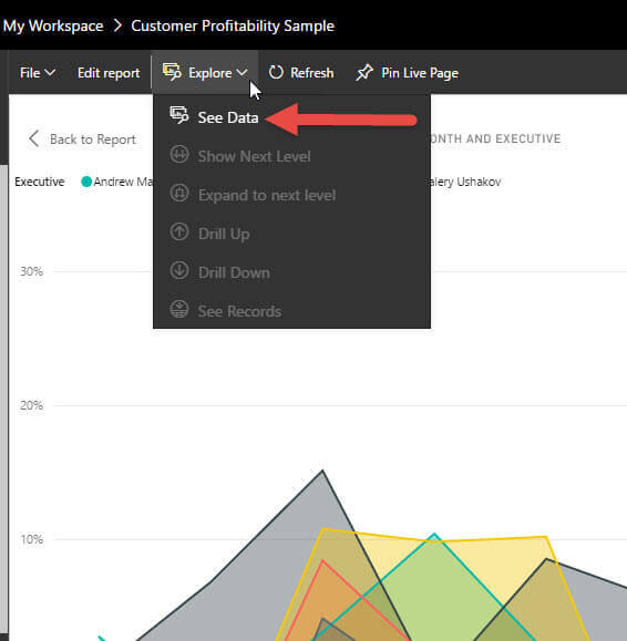 Explore See Data functionality in Power BI