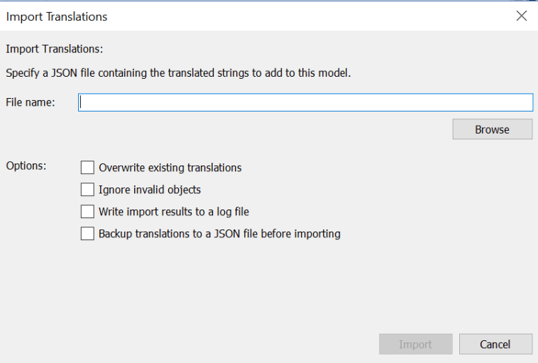 Import Translation for the SQL Server Analysis Services Tabular Model