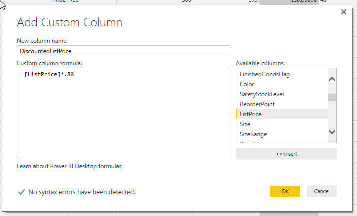 Add a calculated column to our Power BI query