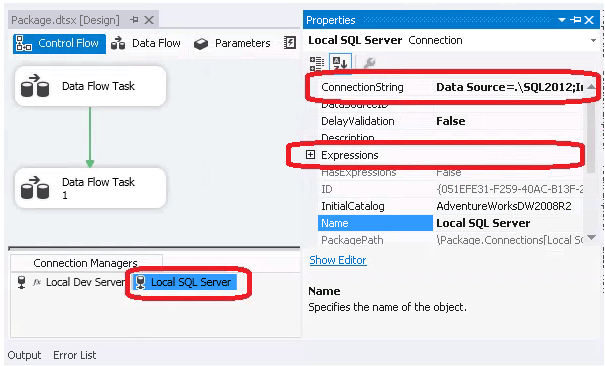 Expression for SSIS Connection Manager