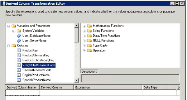 SSIS Expression Builder