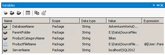 SSIS Expression for a Container