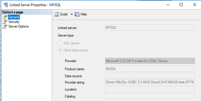 Create a SQL Server Linked Server to MySQL