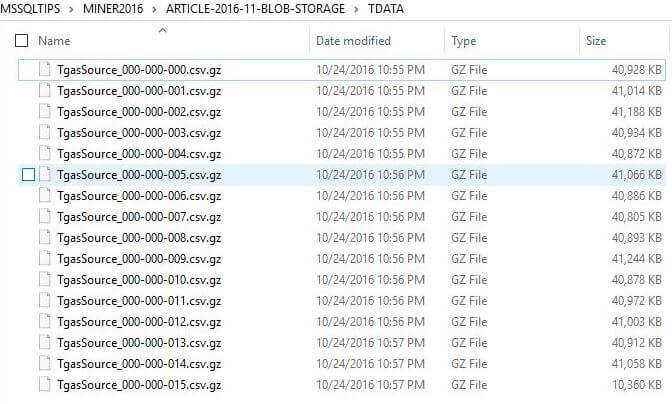 TGAS Data Files