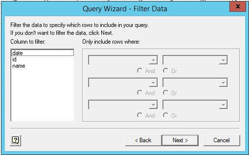 Query Wizard - Filter Data in Microsoft Excel