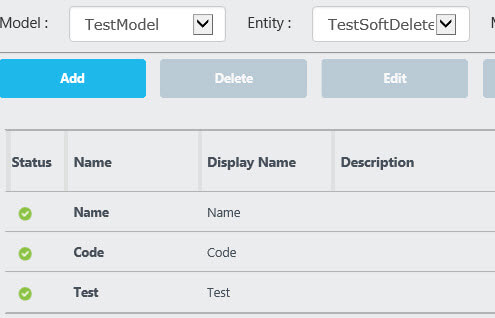 Test entity attributes in Master Data Services