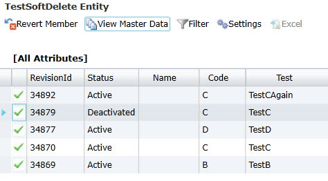 History view in Master Data Services