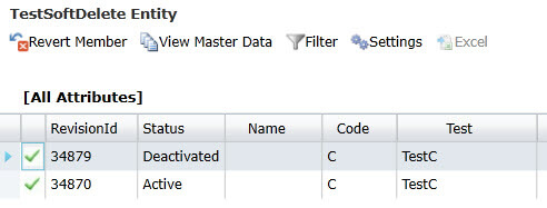 History view with deactivated members in Master Data Services