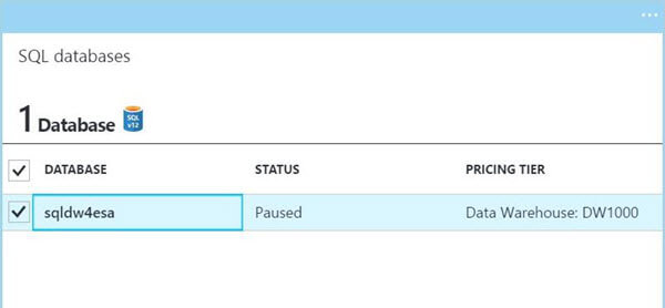Azure Portal - Paused Service