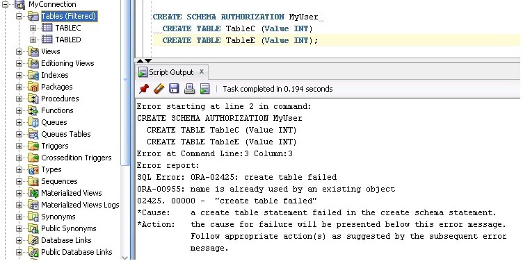 how to get sql commands from oracle