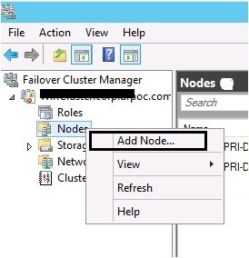 Node addition in Failover Cluster Manager