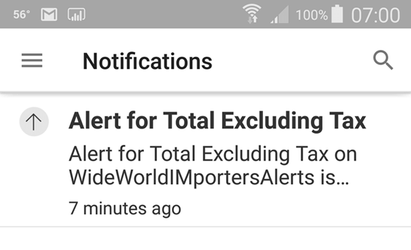 Mobile alert notification