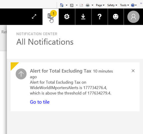 PowerBI Notification Center