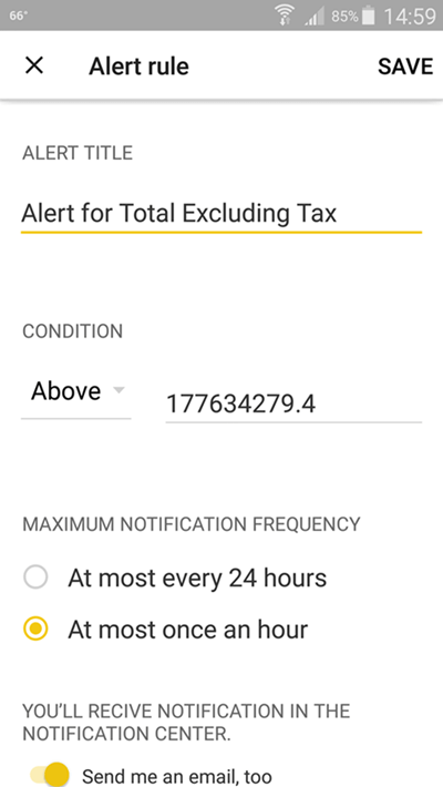 Maintain mobile Power BI Alerts on Android