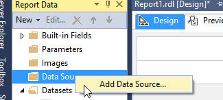 Add Data Source in SSRS