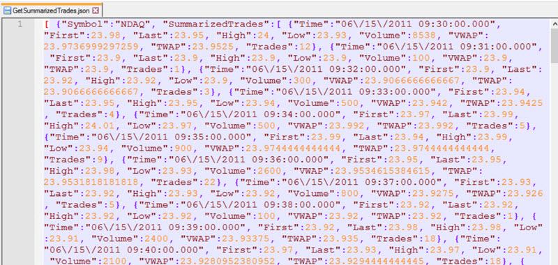 Using JSON as a data source for a SQL Server Reporting