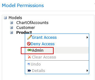 assign user as model administrator
