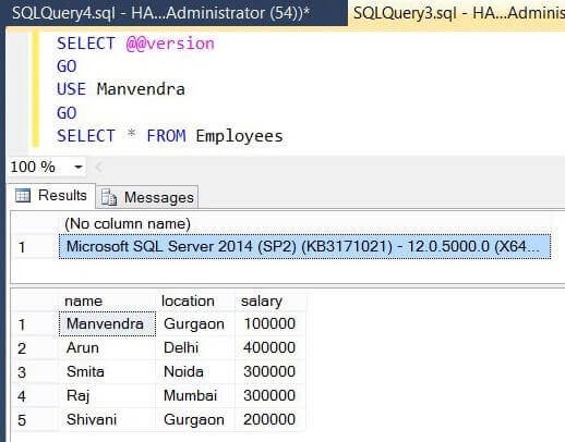 SQL Server Source details version