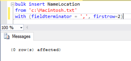 SQL Server Bulk Insert Row Terminator Issues