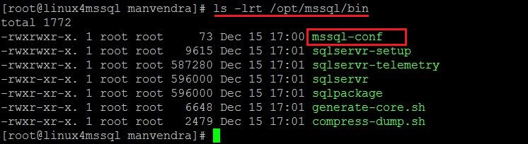 check mssql-conf file
