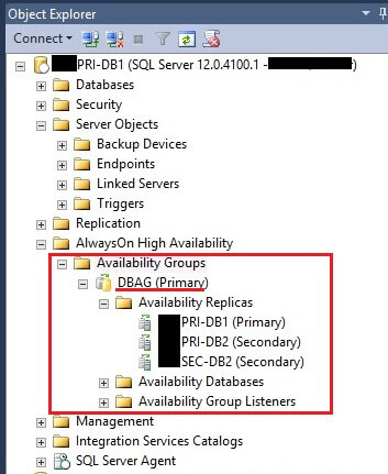Availability Groups in SSMS