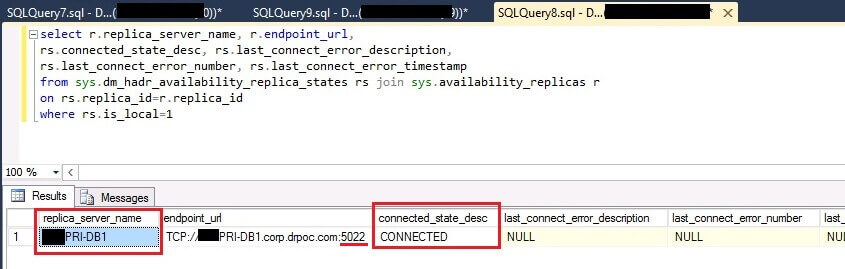 Check SQL Server Availability Group Endpoint State