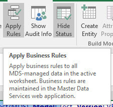 Apply business rules in Master Data Services