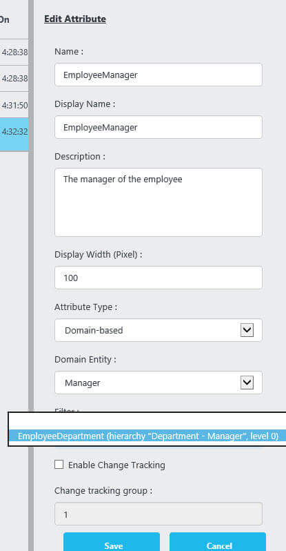 department filters manager
