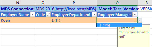 department filters manager in addin bis
