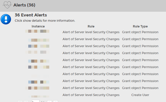 sql compliance manager alerts