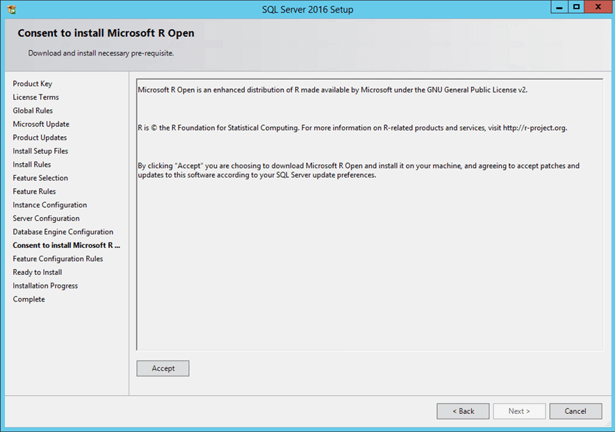 Microsoft R Open consent to install