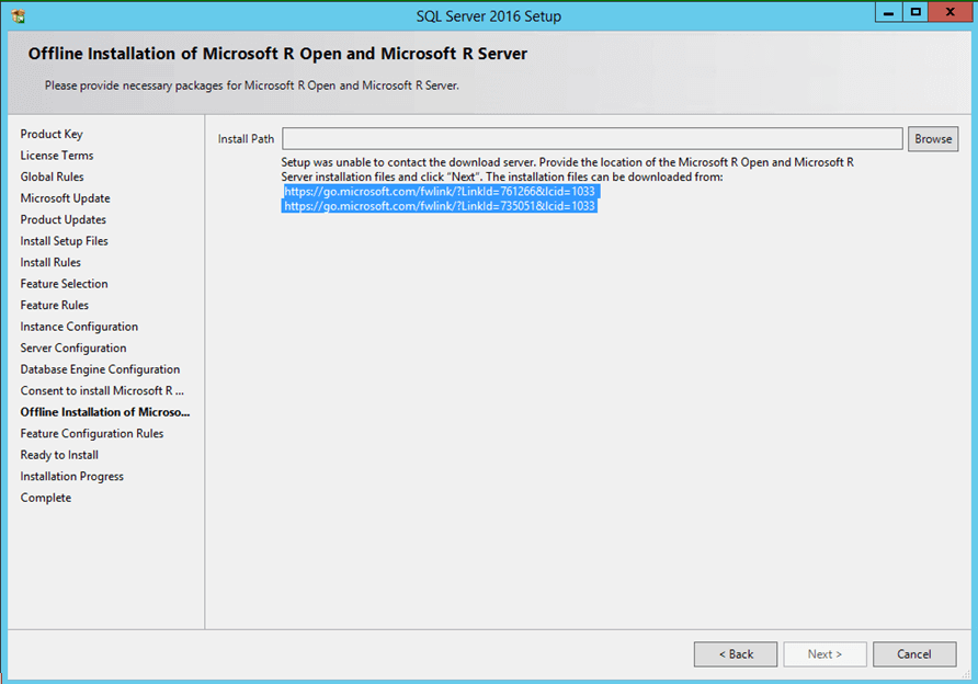 Microsoft R Open offline installation
