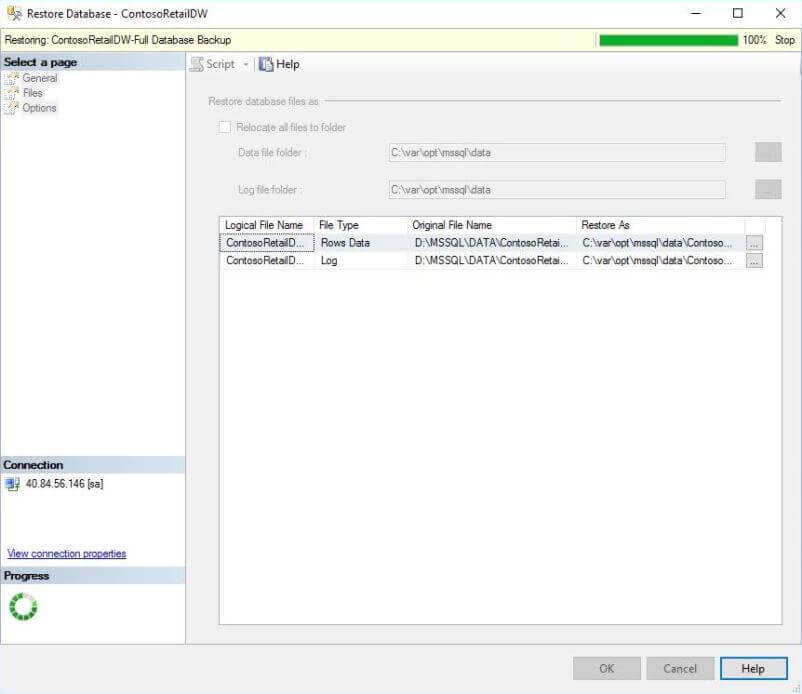 SSMS - Before Restoring Database