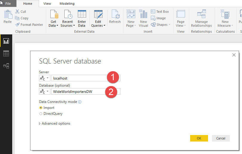 Select Server and Database