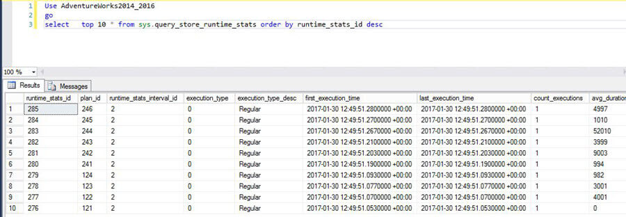 Query Store Data in Source SQL Server Database