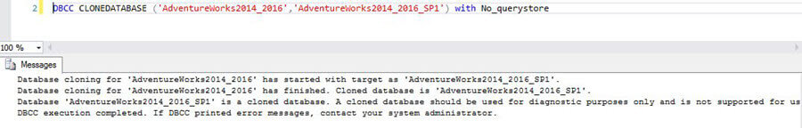 No Query Store Data from the Source SQL Server Database