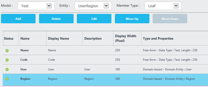 create DBA region in Master Data Services