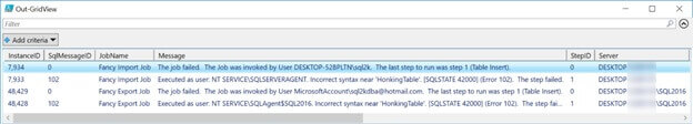SQL Server instances loaded up into our $ServerList.Name variable