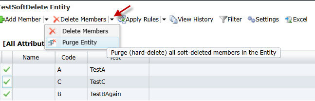 purge entity in Master Data Services 2016