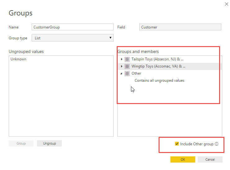 Include other Groups in Power BI